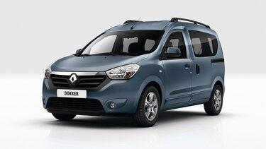 Renault DOKKER - автомобіль для відпочинку - вигляд спереду в три чверті