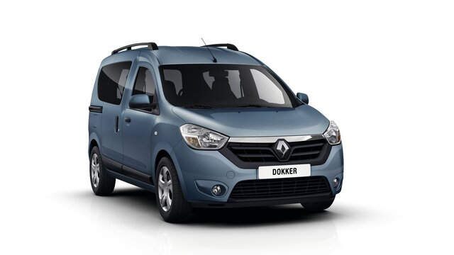 Renault DOKKER - автомобіль для відпочинку - зовнішній вигляд спереду справа в три чверті
