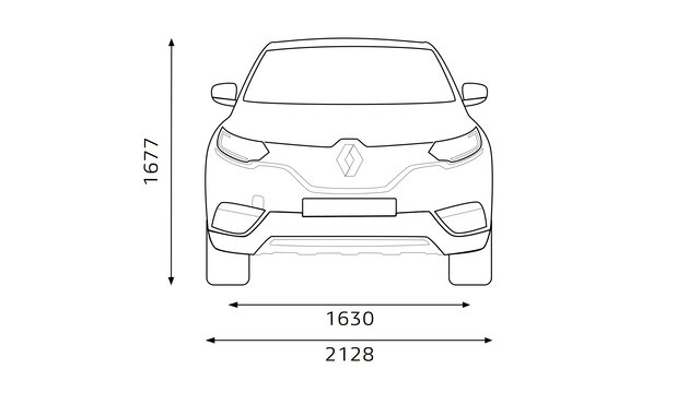 A Renault SCENIC méretei