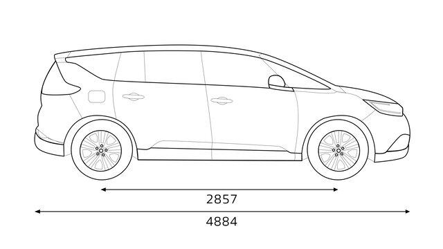 Renault SCENIC afmetingen