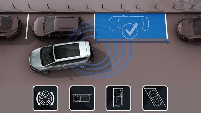 Renault ESPACE 3D park assist
