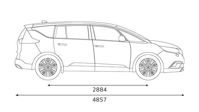 Renault ESPACE Abmessungen seitlich