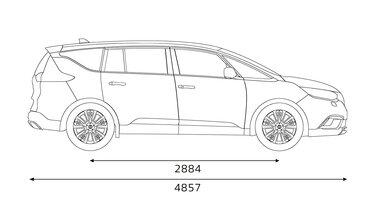Renault ESPACE - Dimensioni laterali