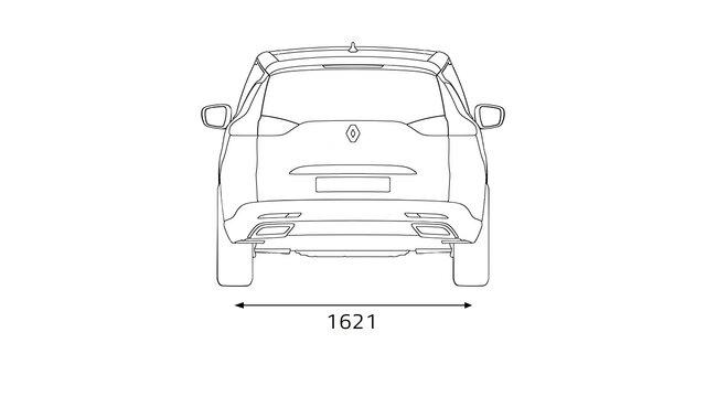 Renault ESPACE dimensions face arrière