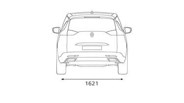 Renault ESPACE - Afmetingen achterkant