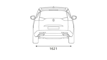 A Renault ESPACE méretei hátul