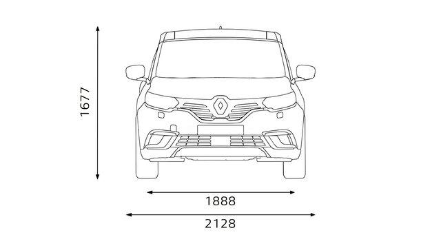 Renault ESPACE Frontabmessungen
