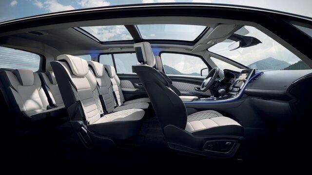 Renault ESPACE zitplaatsen voor- en achteraan