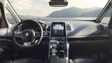 Renault ESPACE binnenkant, dashboard, tablet met touchscreen
