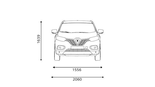 Nowe Renault KADJAR wymiary z przodu