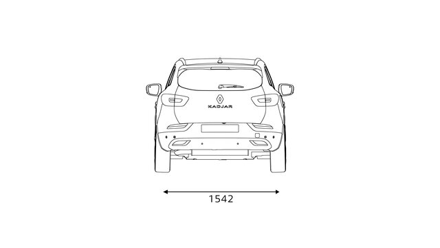 KADJAR rear dimensions