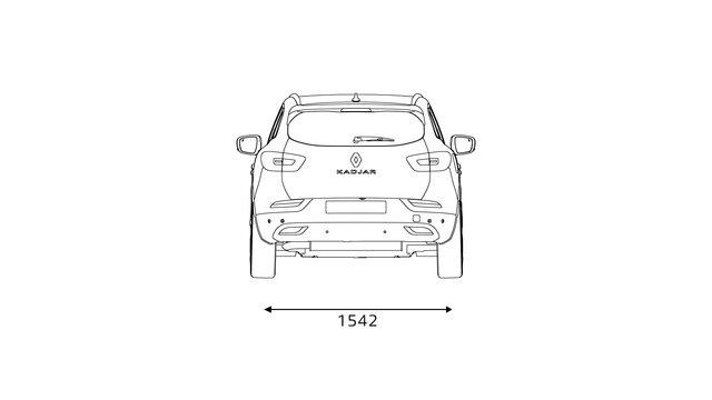 Nowe Renault KADJAR wymiary z tyłu