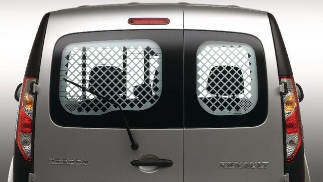 Rear window protection grilles