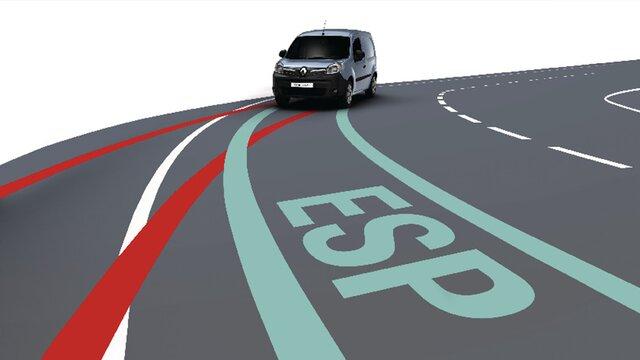 Renault KANGOO Z.E. Sistemul electronic de control al stabilității (ESP)