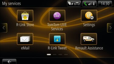 KANGOO Z.E. - navigációs képernyő