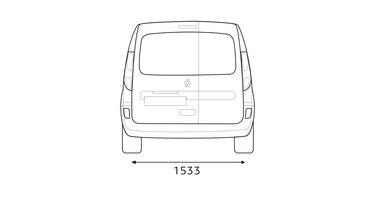 Boční rozměry vozu KANGOO