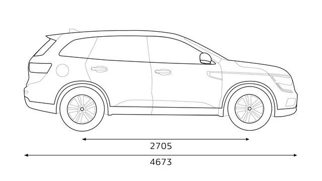 Renault KOLEOS dimensions profil