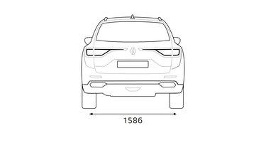 Renault KOLEOS – dimenzije straga