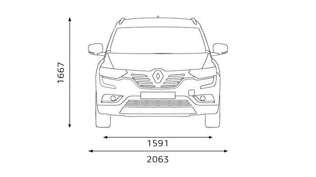 Renault KOLEOS Abmessungen vorne