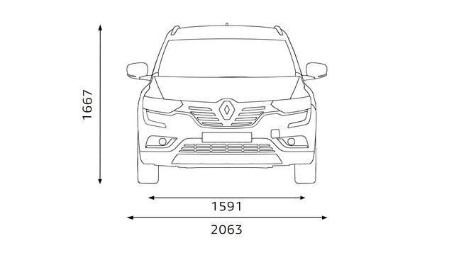 Renault KOLEOS Frontabmessungen