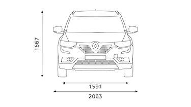 Renault KOLEOS dimensões dianteiras