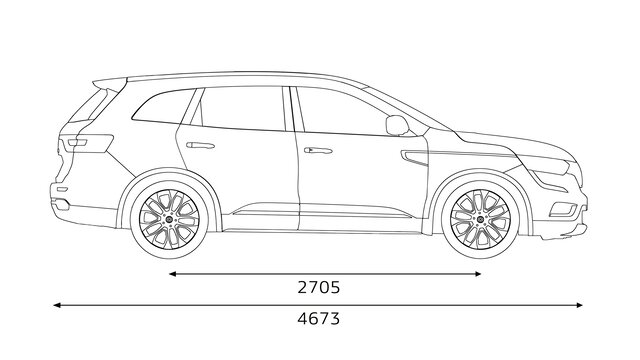 Renault KOLEOS side dimensions