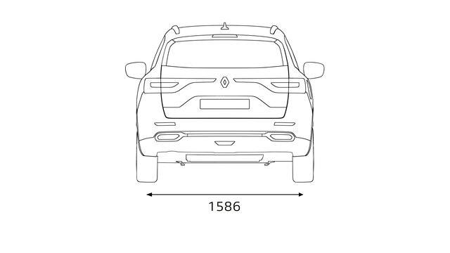 Renault KOLEOS dimensions arrière