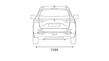 Renault KOLEOS dimensões traseiras