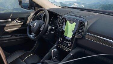 Renault KOLEOS belső tér, műszerfal, kormány és multimédia képernyő
