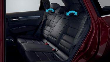 Renault KOLEOS interni divanetto posteriore