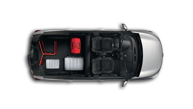 Renault LODGY - Вигляд інтер'єру зверху