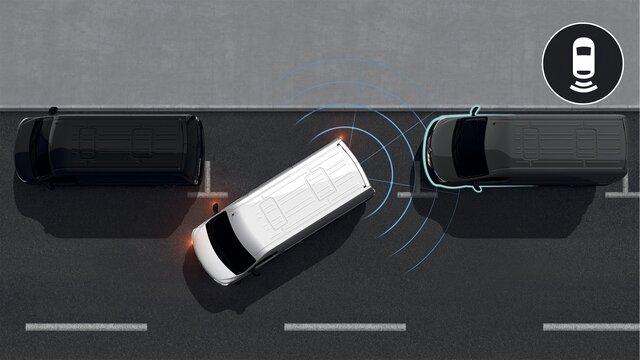 Zadní parkovací senzor a zadní parkovací kamera - MASTER Z.E.