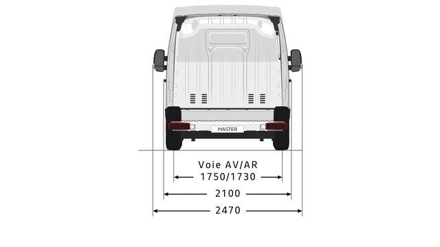 MASTER Z.E. rear dimensions