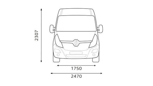 Renault MASTER - Dimensions avant