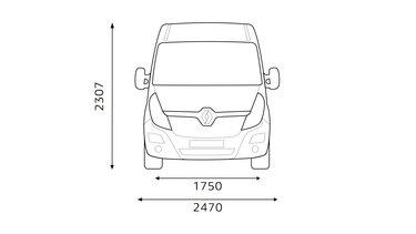 Dimensioni anteriori Renault MASTER
