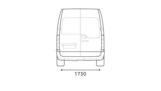 Renault MASTER - Dimensions arrière