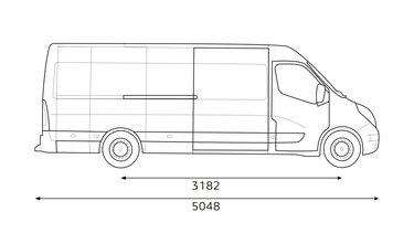 Dimensioni laterali Renault MASTER