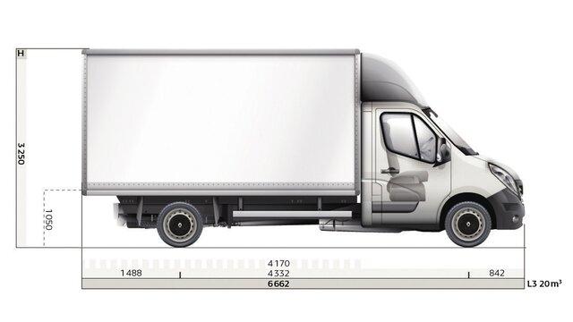 Dimensioni laterali Gran Volume Renault MASTER