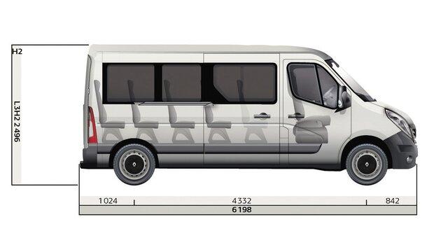 Renault MASTER Bus Seitenabmessungen