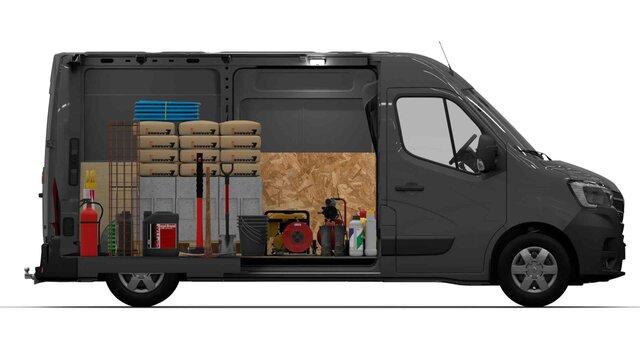 MASTER furgon rakodás