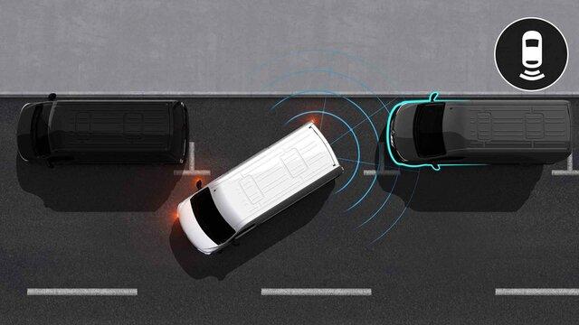 Radar anteriore e parking camera