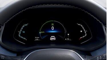 Športni terenec Renault Megane Conquest E-TECH hibrid – zaslon za voznika