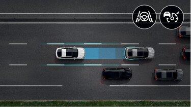 Športni terenec Renault Megane Conquest E-TECH hibrid – sistemi za pomoč vozniku