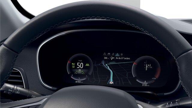 Der Neue MEGANE Grandtour von innen - Fahrerbildschirm
