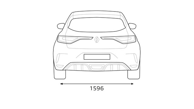 Renault - MEGANE R.S. - Dimensões