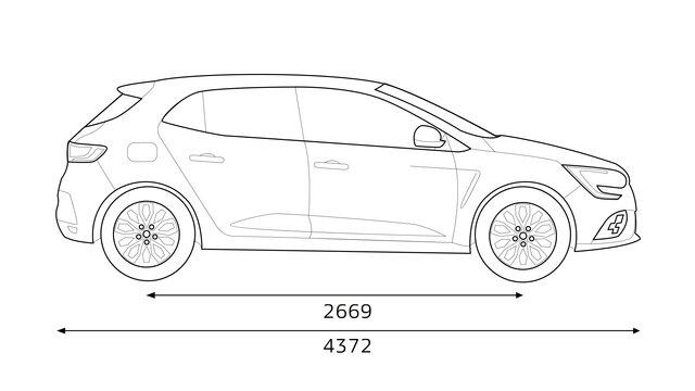 Renault - MEGANE R.S. - Dimensions