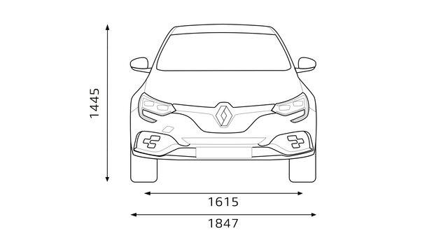 Renault - MEGANE R.S. - Rozměry