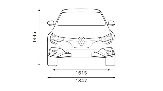 Renault - MEGANE R.S. - Wymiary