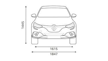Renault - MEGANE R.S. – Méretek