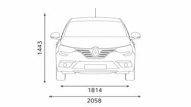 MEGANE Sedan front end dimensions